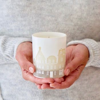 Illuminated Scandi Houses Winter Candle
