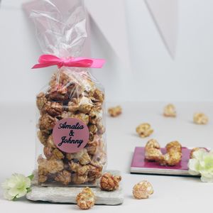 Personalised Prosecco Popcorn Wedding Favours