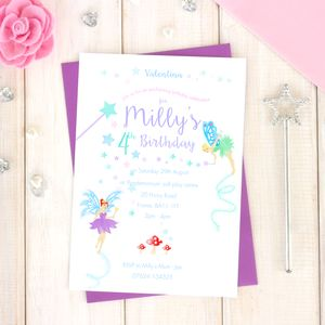 Personalised Fairy Party Invitation Pack - invitations