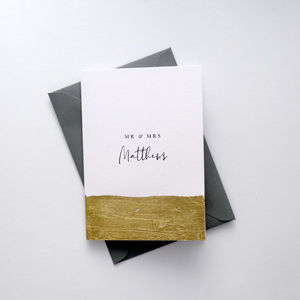 Personalised 'Mr And Mrs' Greetings Card