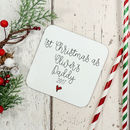 1st Christmas As A Daddy Personalised Wooden Coaster S