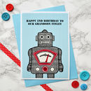 Childrens Birthday Card, personalised for a special son, grandson, nephew, brother, daddy etc