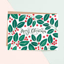 Holly Pattern Christmas Card