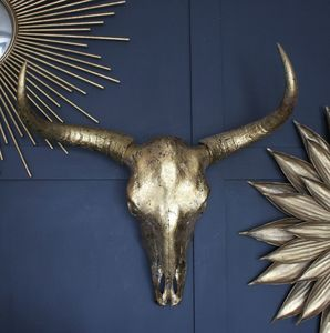Gold Bull Skull - decorative accessories