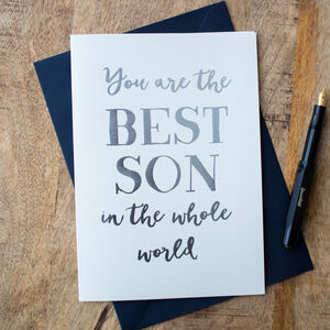 Foil 'Best Son In The Whole World' Card