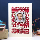 Baby's First Christmas Papercut Photo Card A5
