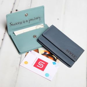Personalised Large Leather Card Holder - card holder