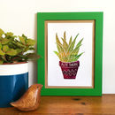 Aloe There Foil Mini Plant Print