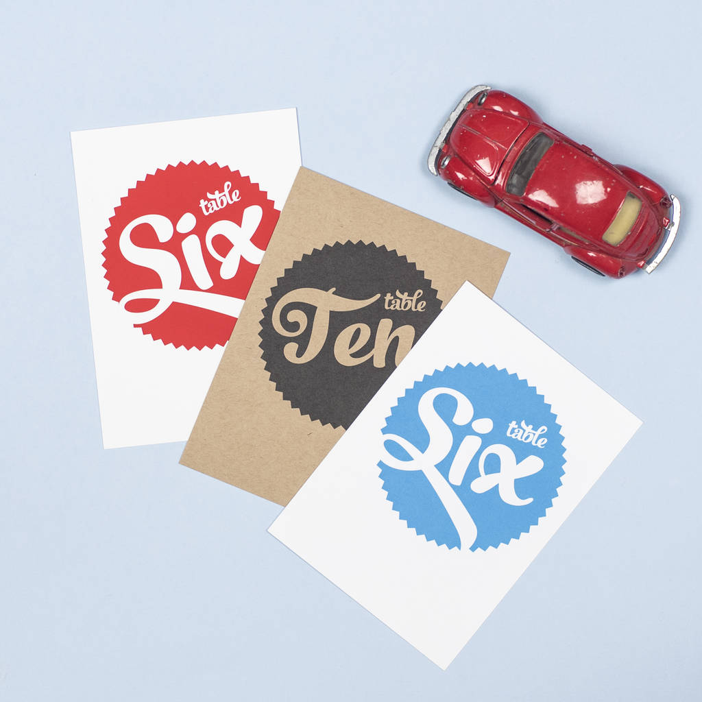 Retro Table Number Pack