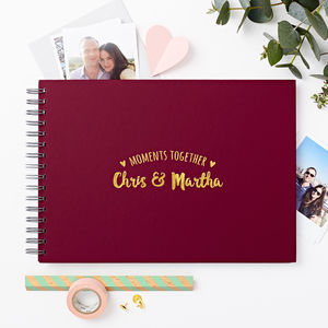 Personalised Couple's 'Moments' Photo Album - albums & guest books