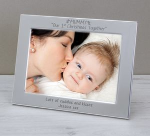 First Christmas Photo Frame For Mummy - home accessories