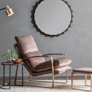 Brown Leather Relax Arm Chair - chairs
