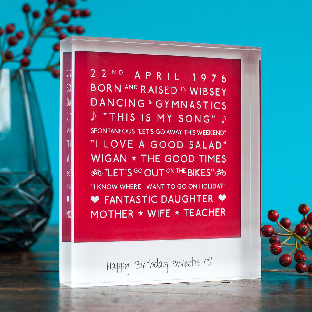 personalised mark the occasion acrylic block by a.musing ...