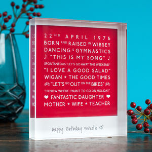 Personalised Mark The Occasion Acrylic Block - picture frames