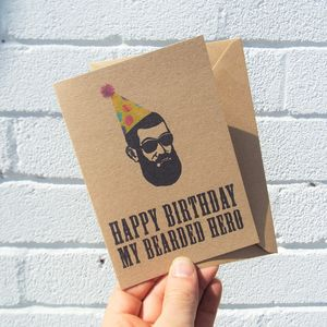 For My Bearded Hero Birthday Card