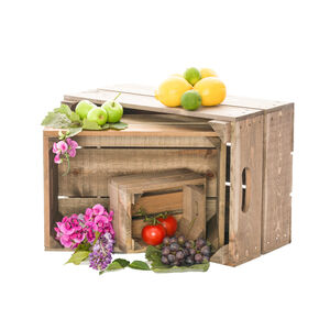 Vintage Style Nest Of Three Crates