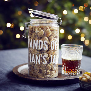 Personalised Pork Crackling Gifting Jar - gifts for him