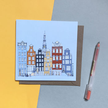 Amsterdam Skyline Greetings Card
