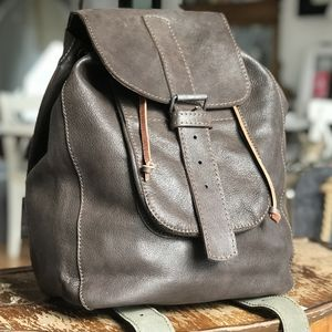 Leather Backpack Made In London - mens