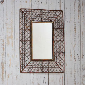 Fair Trade Soha Industrial Effect Mirror - mirrors