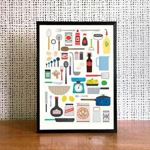 Kitchen Essentials Print - posters & prints