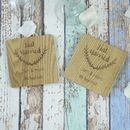 Personalised Just Married Engraved Wedding Coasters