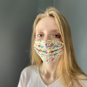 Liberty Lawn Washable Face Mask Coloured Elastic