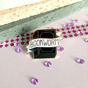 Bookworm Enamel Pin Badge - children's accessories