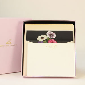 Luxury Anenome Flower Letter Writing Set - notelets & writing paper
