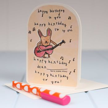 'Happy Birthday Bunny' Birthday Card