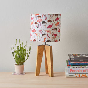 Small Flamingo And Hedgehog Lampshade - lamp bases & shades
