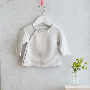 Cashmere Cotton Blend Baby Cardigan
