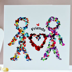 Friends Butterfly Card