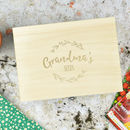 Personalised Wooden Seed Storage Box