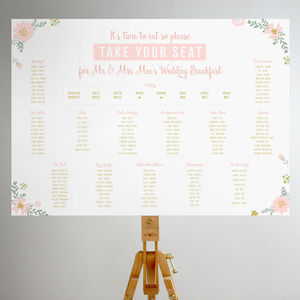Elegant Floral Table Plan - table plans