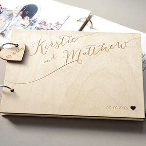 Personalised Calligraphy Guest Book - guest books