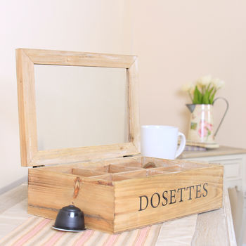 Dosettes Wooden French Coffee Pod Box