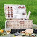 Personalised Potbelly Two Tone Picnic Hamper For Two