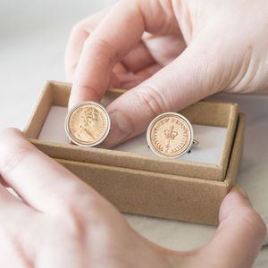 Halfpenny 40th 1978 Birthday Coin Cufflinks - cufflinks