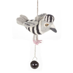 Hand Made Felted Jail Bird Fair Trade And Biodegradable