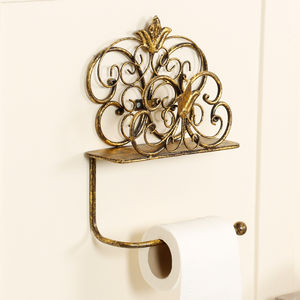 Antique Gold Wall Mounted Toilet Roll Holder