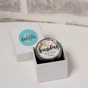 Personalised Floral 'Grandma' Pill Box