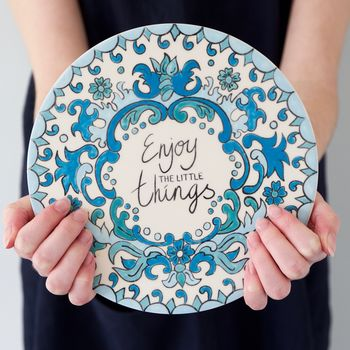 'Enjoy The Little Things' Pottery Painting Set