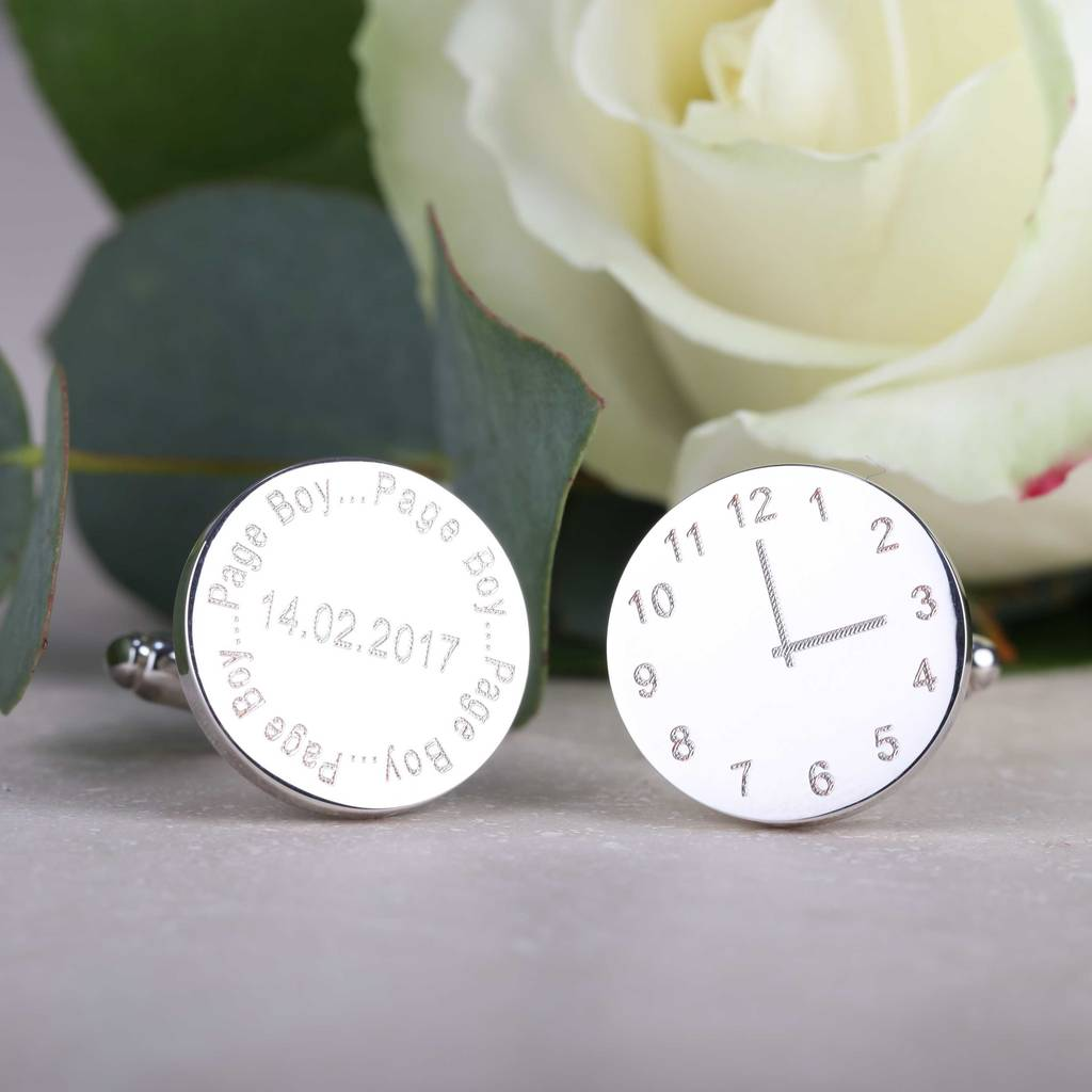 Personalised Wedding Cufflinks For The Page Boy