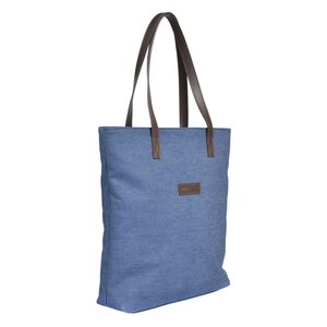 Denim And Leather Tote Bag With Liberty Fabric Lining - bags & purses