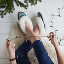 Sen Turquoise Sheepers Slippers