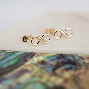 Gold Infinity Earrings