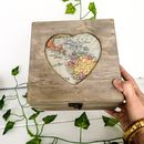 Personalised Map Design Memory Or Keepsake Box