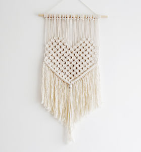 Heart Macrame Wall Hanging - home accessories