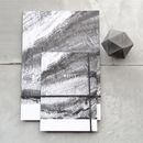 Black And White Lines Of Wood Recyceled Paper Notebook